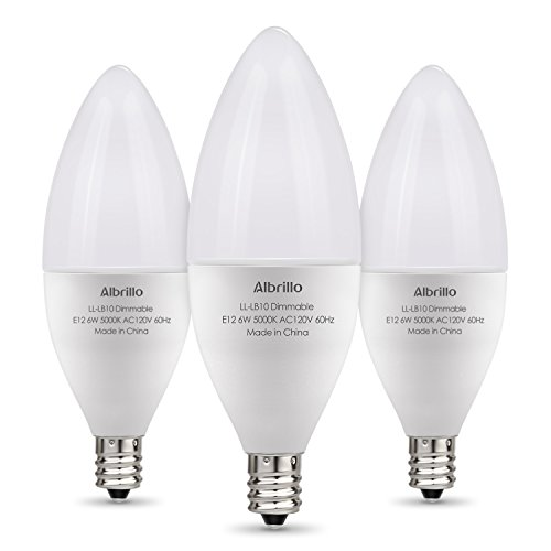 Brightest Led Candelabra Bulb: Albrillo E12 LED Bulb Dimmable Light Bulbs, 60 Watt
