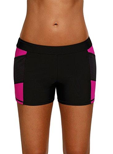 761a4e6ef7 Jersri Women Swim Board Shorts,Elastic Waist Sports Beach Shorts Bottoms  Size S-XXXL