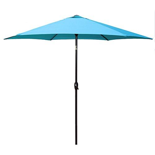 Le Papillon 9 Ft Outdoor Patio Umbrella Aluminum Table Market