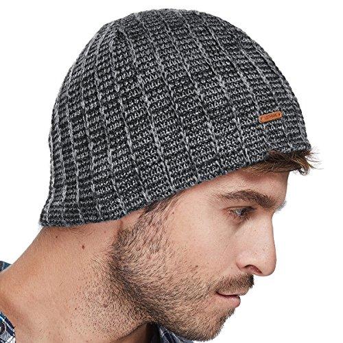 a5782c102 Bodvera Mens Winter Beanie Knit Hats Slouchy Wool Warm Plain Skull ...
