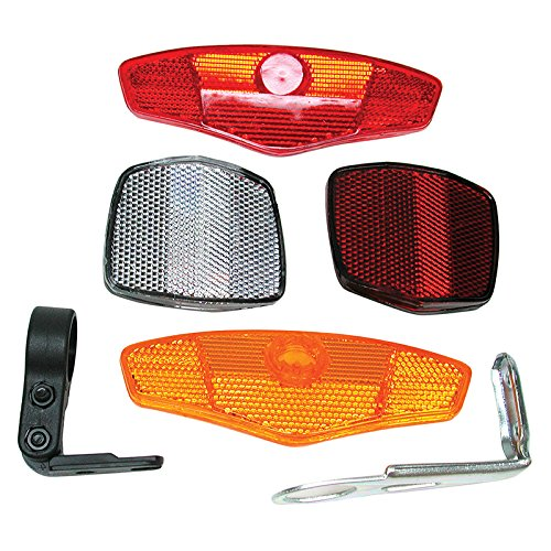 DZ837 Bicycle Bike MTB Safety Caution Warning Reflector Disc Rear Pannier Racks#