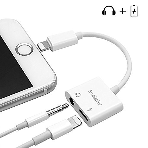 promo code 1d893 798a3 Lightning to 3.5mm Headphone Jack Adapter, Excellenter Iphone ...