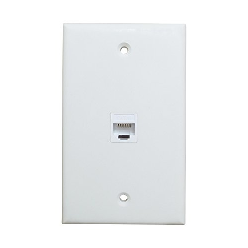 IBL-4 port Wall Plate with Gold-plated Coaxial TV Cable F type + 3 on